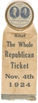 Coolidge-Dawes Whole Republican Ticket