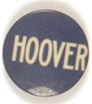 Hoover Blue and White Celluloid