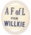 A.F. of L. for Willkie