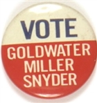 Goldwater, Miller, Snyder Kentucky Coattail