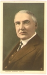 President Warren Harding Color Postcard