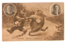 Teddy Bear and Billy Possum Postcard