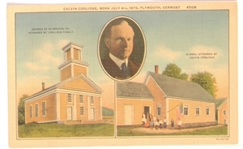 Coolidge Plymouth, Vt. Postcard