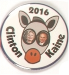 Clinton, Kaine Donkey Eyes