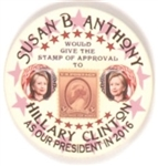 Hillary, Susan B. Anthony Pin