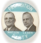 Watson and Learn, Prohibition Party