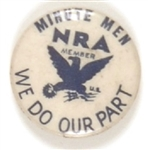 NRA Minute Men Celluloid
