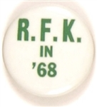 RFK in 68 Green, White Celluloid