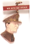 Win With MacArthur Unusual Plastic Pinback