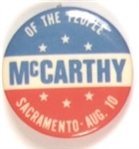 McCarthy We The People Sacramento Pin