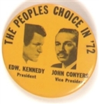 Kennedy and Conyers, 1972 Celluloid