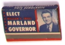 Elect Marland Governor, West Virginia Matchbook