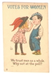 Anti Suffrage Cartoon Postcard