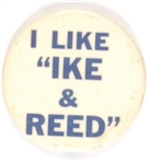"I Like ""Ike and Reed"" Coattail"