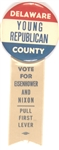 Delaware County Young Republicans for Eisenhower Pin and Ribbon