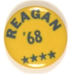 Reagan '68 Four Stars Celluloid