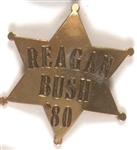 Reagan, Bush '80 Sheriff's Badge