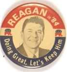 Reagan Doing Great, Let's Keep Him