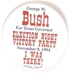 George W. Bush for Governor 1994 Election Night Pin