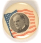 McKinley American Flag Celluloid