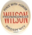 Wilson Peace With Honor