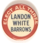 Landon, White, Barrows Elect All Three