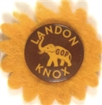 Landon-Knox Celluloid with Cloth Sunflower