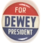 Dewey for President Red, White and Blue