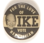 Rare For the Love of Ike Sample Pin