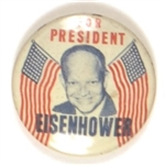 Eisenhower for President Flags Pin