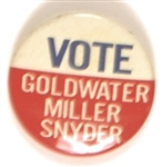Vote Goldwater, Miller, Snyder Kentucky Coattail