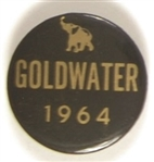 Goldwater 1964 Black, Gold Elephant Pin