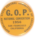 Eisenhower California 1956 Convention Celluloid