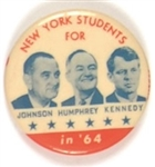 New York Students Johnson-Robert Kennedy Orange Version