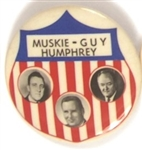 Humphrey-Muskie-Guy North Dakota Coattail