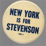 New York is for Stevenson