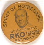 Spirit of Notre Dame Knute Rockne Movie Pin