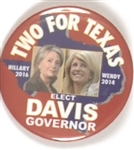 Clinton and Davis, Two for Texas
