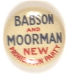 Babson and Moorman, Prohibition Party