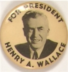 Henry Wallace Progressive Party 1 3/4 Inch Celluloid