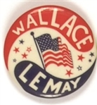 Wallace and LeMay Flag Celluloid