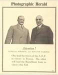 Harding and Pershing Photographic Herald Poster