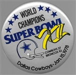 Dallas Cowboys Super Bowl XII Football Pin