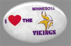 I Love the Minnesota Vikings Football Pin