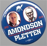 Amondson and Pletten Prohibition Party Jugate