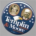 Templin and Moore American Party Pin