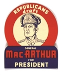 Republicans Draft MacArthur for President Sticker