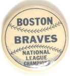 Boston Braves National League Champions