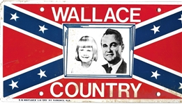 Wallace Country, George and Daughter License Plate