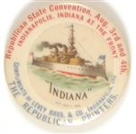 McKinley Era USS Indiana Convention Pin